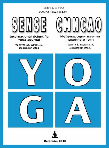 Naučni časopis o jogi Smisao, 2013.