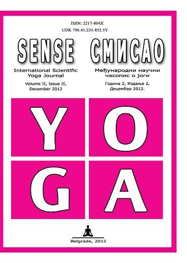 Naučni časopis o jogi Smisao, 2012.