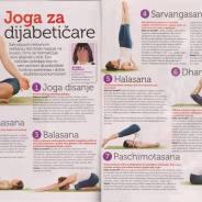 """Bosiljka Janjušević, """"Joga za dijabetičare"""", Dijabetes, jan/febr. 2015."""