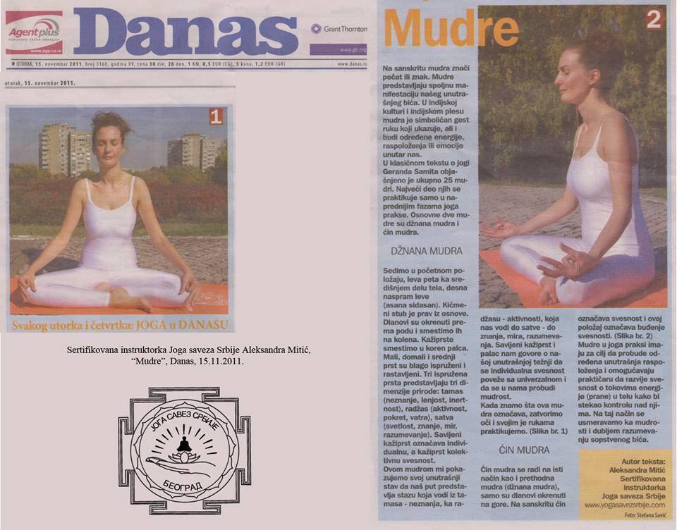 Intervju Aleksandra Mitić, Mudre
