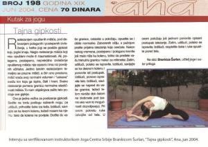 Intervju Brankica Šurlan,Tajna gipkosti