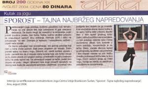 Intervju Brankica Šurlan,Tajna sporosti