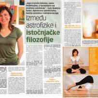 Intervju, Brankica Šurlan,˝Između astrofizike i istočnjačke filozofije˝, časopis Lisa, jun 2006.