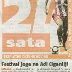 Joga Savez Srbije, Festival joge na Adi Ciganliji, 24 sata, 2011.