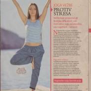 Bosiljka Janjušević, Joga vežbama protiv stresa, Bio magazin, 2015.