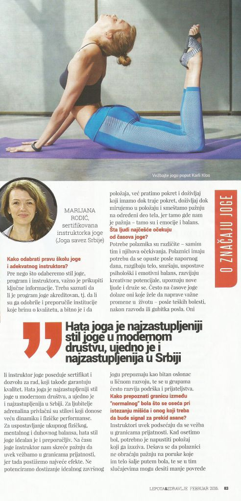 lapota i zdravlje i joga