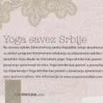 Joga Savez Srbije, Sensa, 2011.
