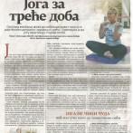 Joga za treće doba, magazin Penzija, 2015.