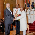 Prof. dr Predrag Nikić Padma Shri i predsednik Indije P.Mukherjee