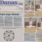 """Intervju, Aleksandra Mitić, """"Joga disanje"""", Danas, 2011."""