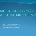 Predavanje, mr Aleksandra Sanader u Joga savezu Srbije