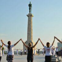 Veliki joga performans, Tašmajdanski park, 2017